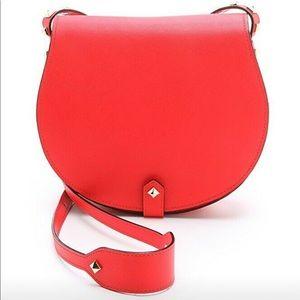 Rebecca Minkoff Red Studded Skylar Crossbody Bag
